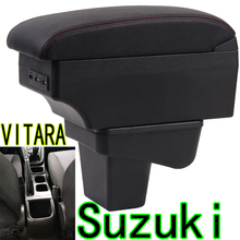 Для Suzuki VITARA подлокотник коробка SUZUKI Vitra перфоратор центральный ящик для хранения автомобильный внутренний подлокотник двухслойный Перезаряжаемый USB