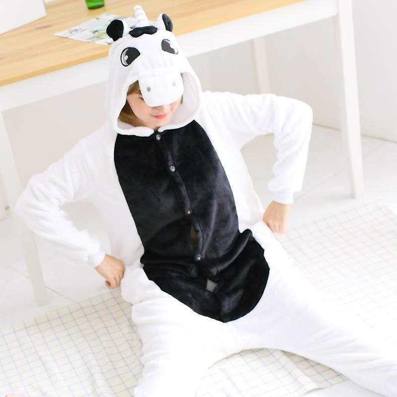 Adult Unicorn Pajama Feminino Inverno Flannel Pijama De Unicornio For Women Mother Daugher Family Pajamas Set TC028