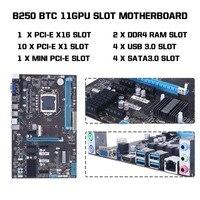 amzdeal 11 PCIE LGA1151 HDMI Miner B250 BTC Mining Motherboard Mainboard Profession High Speed For Pentium/Celeron