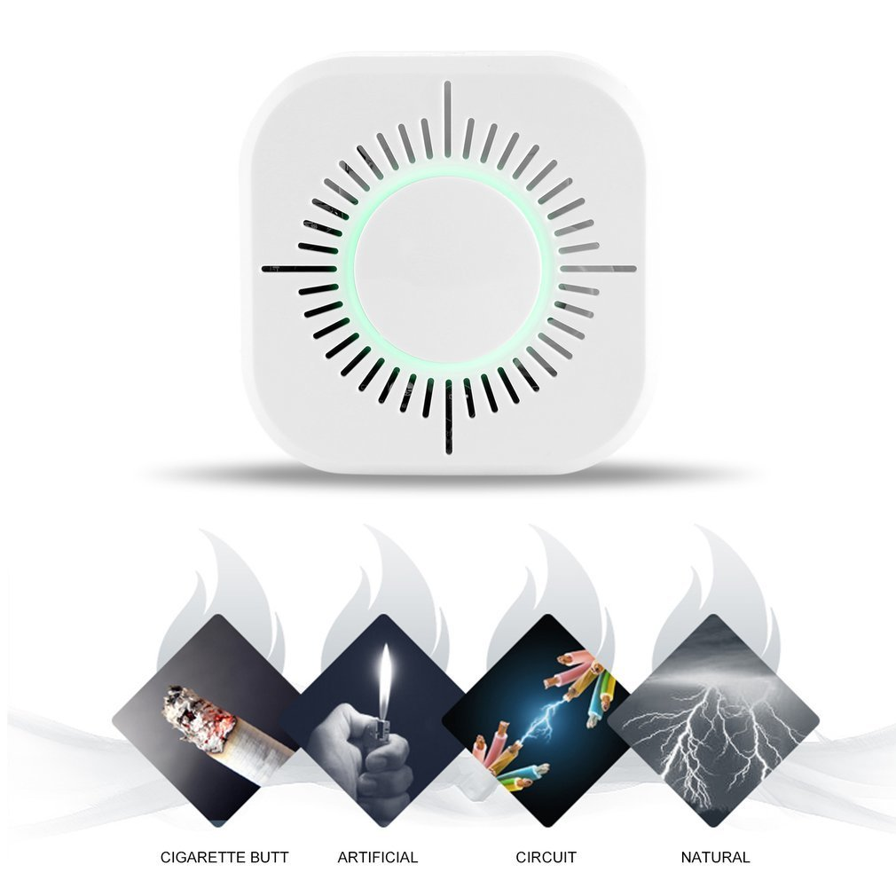 1pcs 433MHz Wireless Smoke Detector Portable Protection Wifi Home Safety Smoke Alarm Sensor