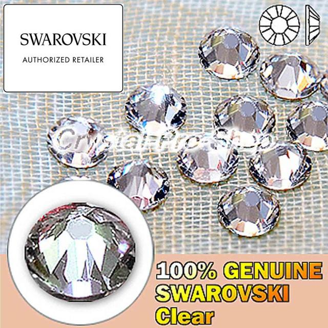 Swarovski Elements Crystal Clear (001) ( No Hotfix   Hotfix ) Iron On ( ss3  - ss48 ) ( 1mm - 11mm ) Flatback Rhinestone e6cc22809bf4