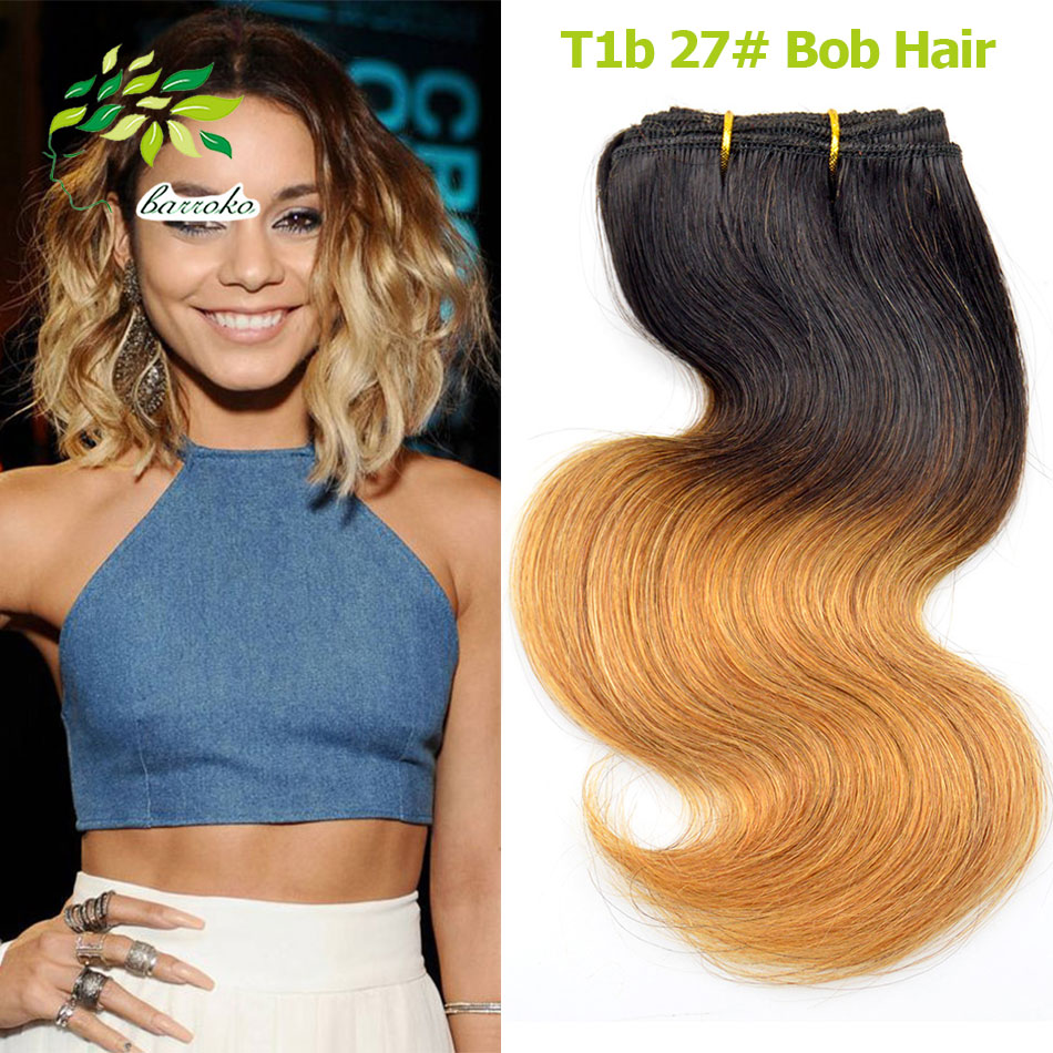 8 Inch 50g Ombre Human Hair Body Wave Honey Blonde