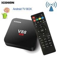 V88 TV Box RK3229 DDRIII 1GB EMMC 8GB 4 USB WiFi Quad Core Rockchip Android 6