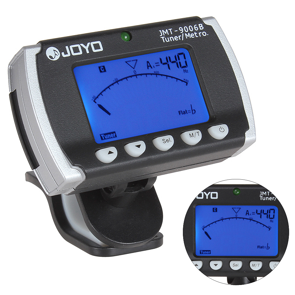 JOYO JMT-9006B Mini Clip-On Digital Tuner & Metronome Backlight LCD Display for Chromatic Guitar Violin Bass Parts Accessories