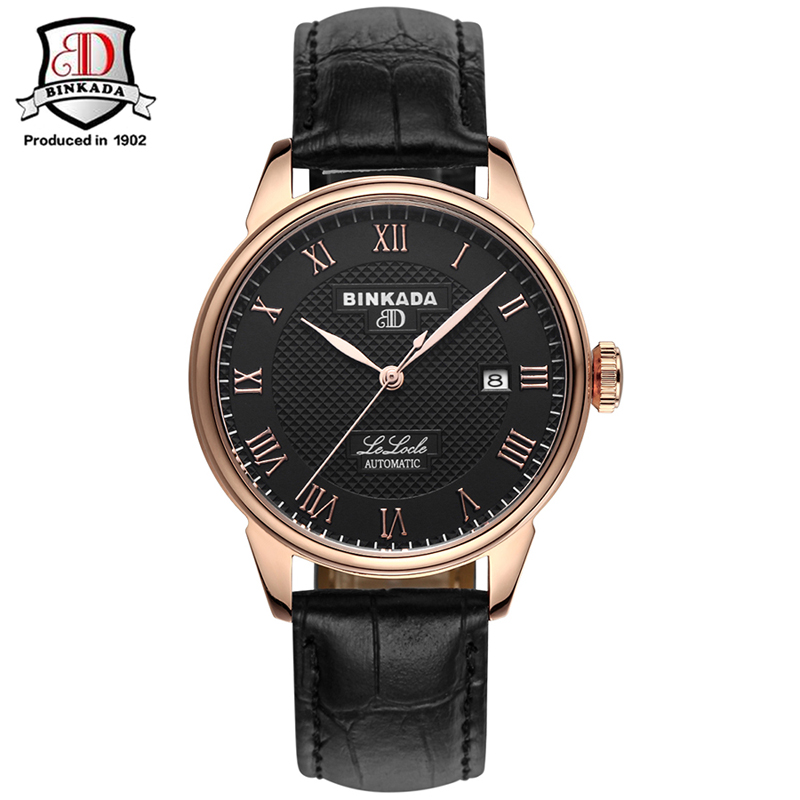 2017 Original BINKADA Men Mechanical Watches Men Luxury Brand Full Steel Waterproof 50m Business Automatic Wristwatches For Men цена