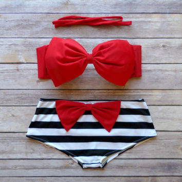 2017 Fashion Push Up Bikini Women Swimsuits Sexy Bathing Suit Swimwear Bowtie Bandeau Bikini Set 23
