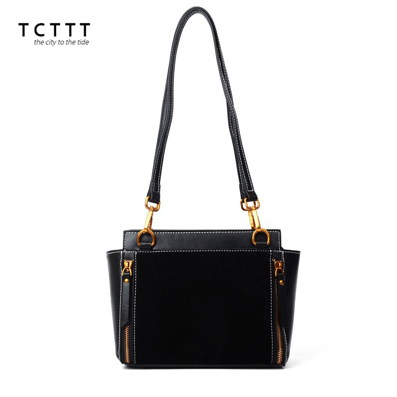 TCTTT Genuine leather Shoulder bags for women's Fashion Casual Vintage Crossbody Handbags for ladies Nubuck small Messenger bag
