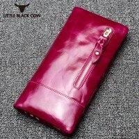 Designer Brand Woman Wallet Vintage Genuine Leather Long Purses For Women Original Leather Purse 2019 New Arrival Female Wallet