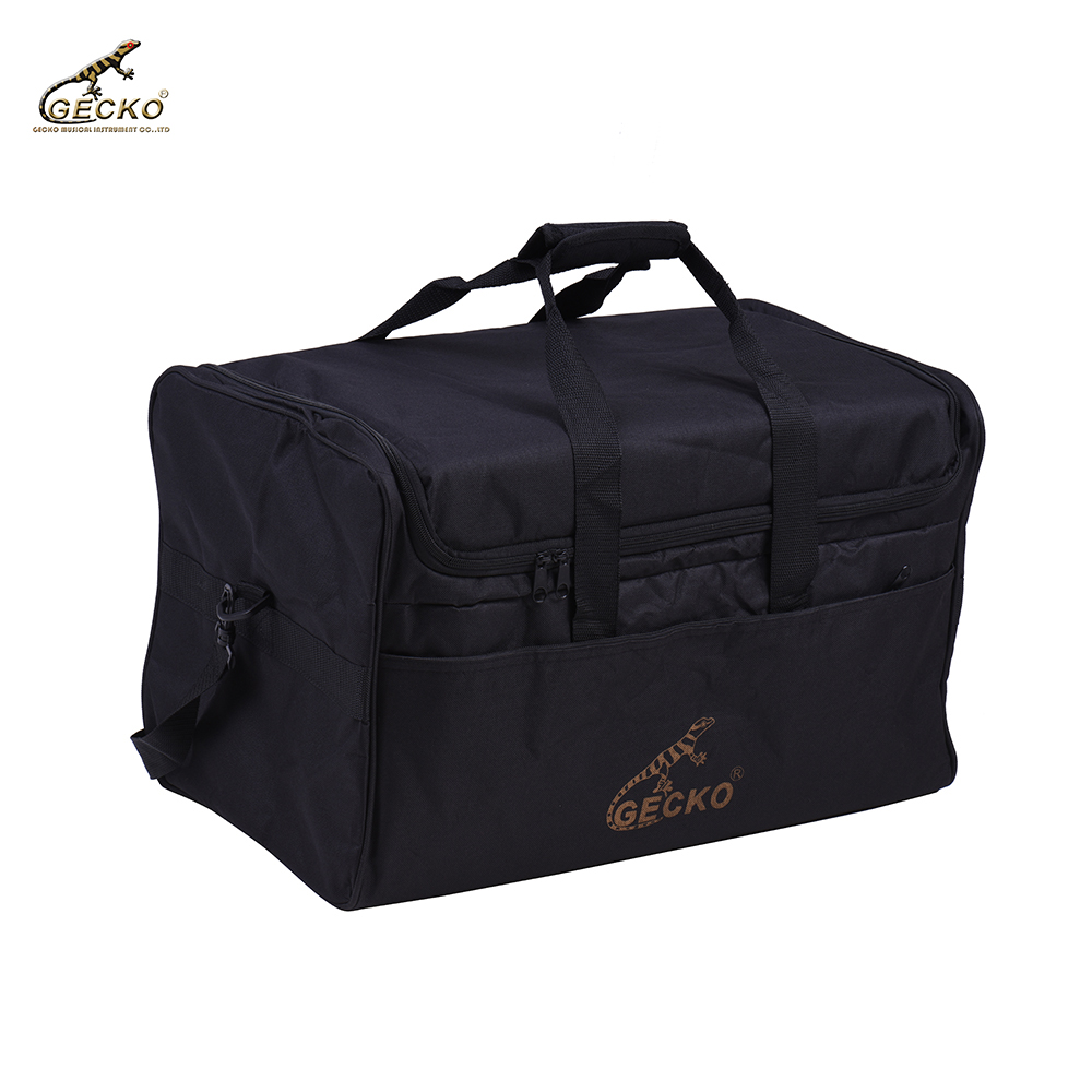 GECKO L03 Standard Per Adulti Cajon Tamburo Scatola Sacchetto di Caso Zaino 600D 5 MILLIMETRI di Cotone Imbottitura con Maniglia per il trasporto Della Cinghia di Spalla