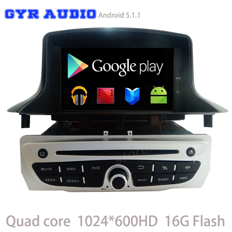 quad core 1024 600 android 5 1 car dvd gps player for renault megane 3 iii fluence 2009 2016. Black Bedroom Furniture Sets. Home Design Ideas