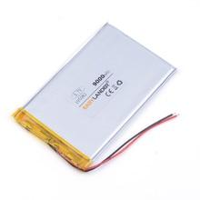 3,7 в литий-ионная перезаряжаемая батарея 195082 9000 мАч планшетный ПК Внешний аккумулятор сотовый телефон динамик GPS
