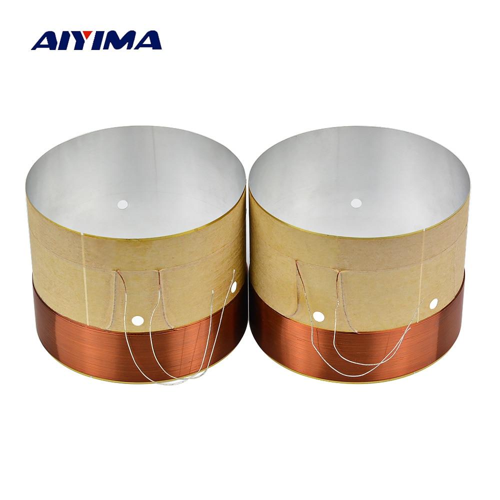 AIYIMA, 2 шт., активный динамик, сабвуфер, звуковая катушка, 51,5 мм, динамики, запасные части, аксессуары, сделай сам, для домашнего кинотеатра, зву...