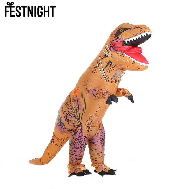 Funny Adult Inflatable Dinosaur Trex Costume Suit Air Fan Operated Blow Up  Halloween Cosplay Fancy Dress 2112cd8f2d49