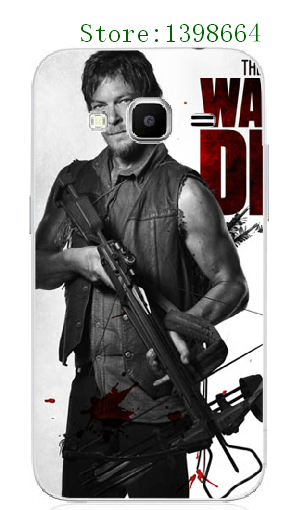 Online-custom Luxury The Walking Dead Plastic Mobile Phone Case Cover white hard cases for Samsung Galaxy J3 free shipping