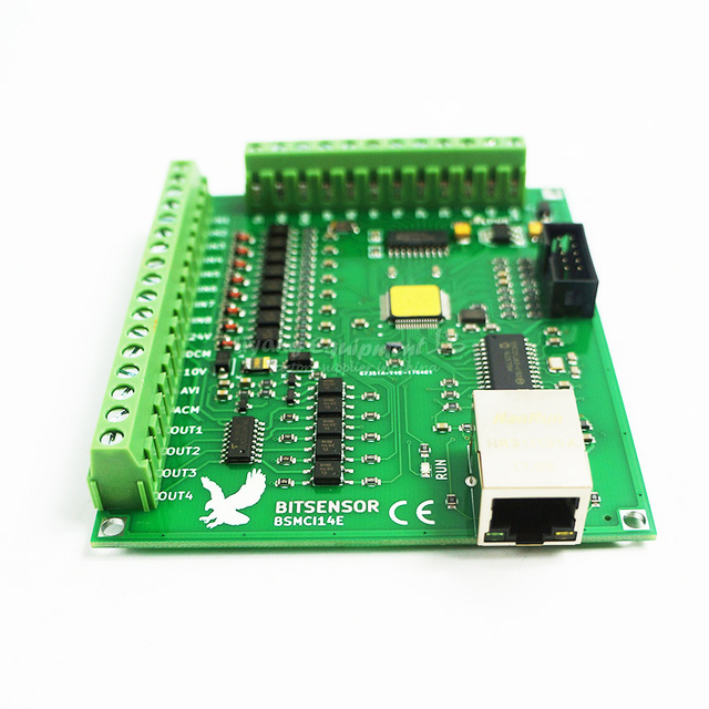 200KHz MACH3 Controller Card Breakout Board for CNC Engraving 4 Axis Ethernet port