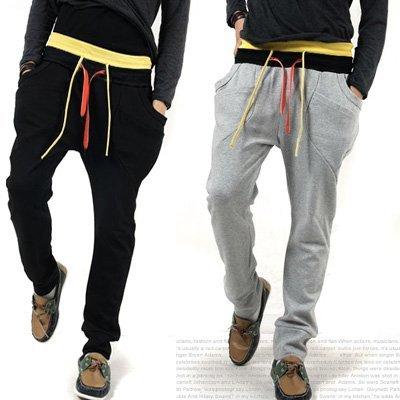 Novos homens da Moda Casuais Calças De Bandas, preto/cinza claro/cinza escuro M L XL Atacado/varejo