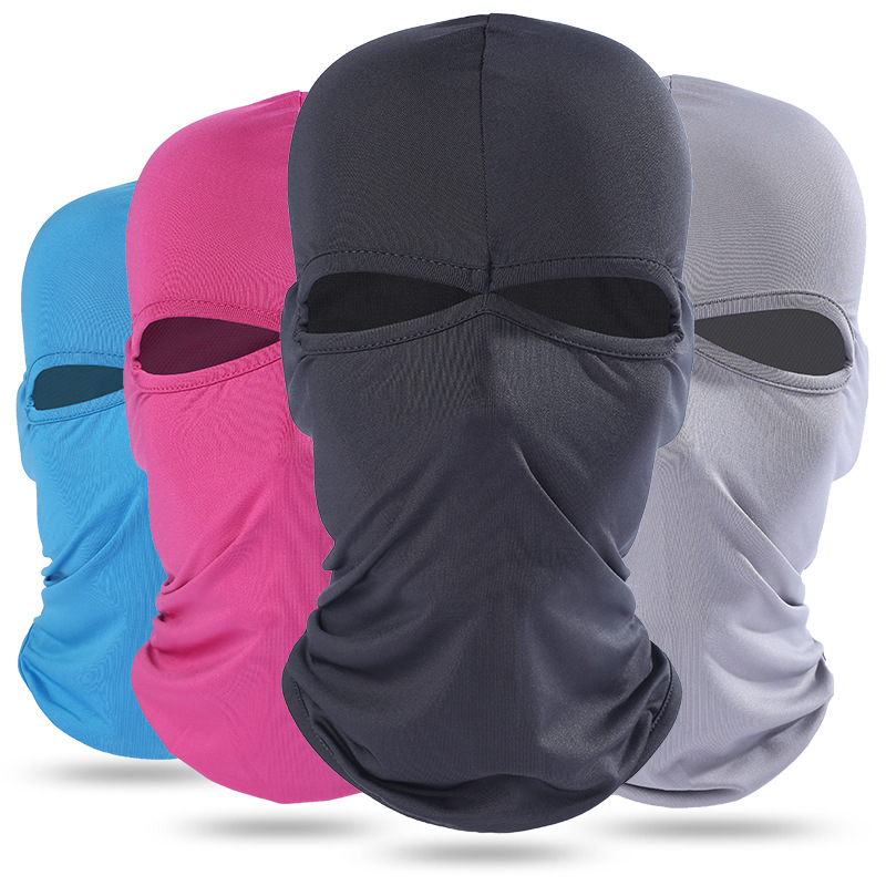 Full Face Cover Mask Three 3 Hole Balaclava Knit Hat Winter Stretch Snow Mask Beanie Hat Cap New Black Warm Face Masks