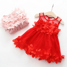Baby Girl Floral Dress Clothing Summer Infant Princess Sleeveless Frill Dresses Lace Tulle Birthday Party Clothes