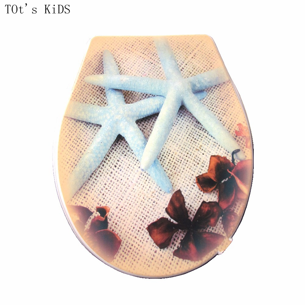 toilet lid cover 2017 high quality colorful starfish pattern toilet seat cover set hot selling fashion bathroom pp toilet seat 3pcs set bathroom toilet non slip blue ocean style pedestal rug lid toilet cover bath mat