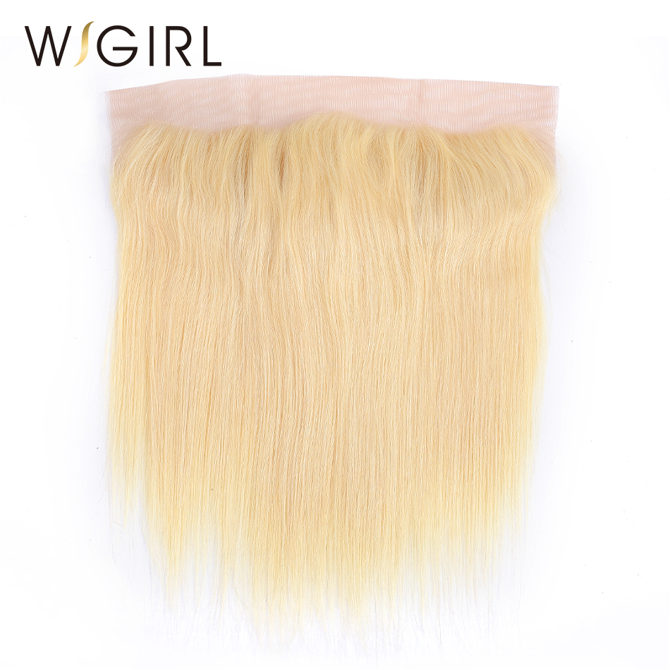 Wigirl Hair Brazilian Remy Hair 13 X4 Free Part 613 Blonde Lace Frontal Closure Straight Human