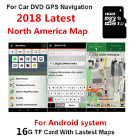a8134db283d Latest For Android 16GB Map SD Card System Car GPS Canada Mexico North  America