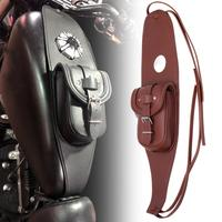 Brown Motorcycle Gas Tank Dash Console Center Pouch Bag Leather fir for Harley Sportster XL 883 1200