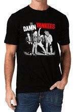 Damn Yankees banda Rock Music Logo hombres y camiseta verano estilo moda  hombres camisetas Top Tee a72a126ff55f0