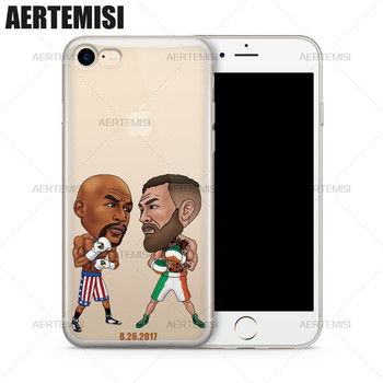 Agrotera Phone Cases Floyd Mayweather Jr. vs. Conor McGregor Clear Soft TPU Case Cover for iPhone 5 5s SE 6 6s 7 8 Plus image