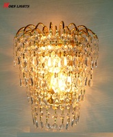 Kristal duvar ışık kraliçe taç altın kristal k9 aplik duvar lambası aplik ışıkları