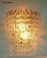 Parede de cristal rainha coroa de ouro de cristal k9 lâmpada de parede arandela arandela luzes crystal tray crystal chandelier floor lamp crystal ceiling lamp -