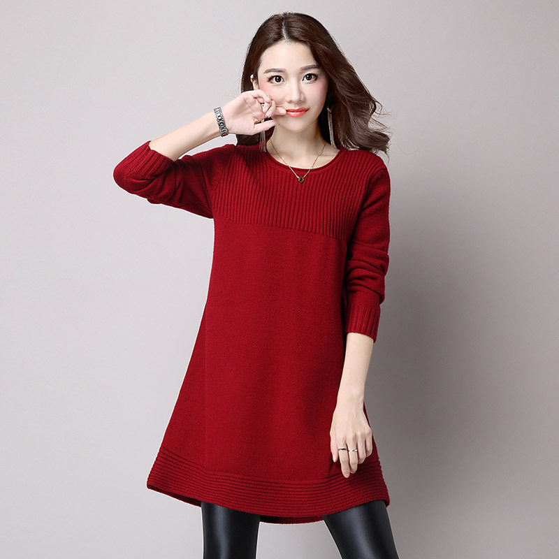 In Special Offer Wool Lycra The Autumn Of 2016 New Female Students Long Sleeved Sweater Dress Shirt Sleeve Korea Loose Head