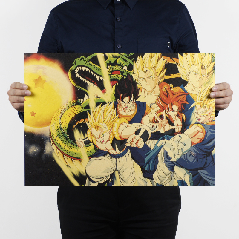 Free shipping,Dragon Ball B/classic Cartoon movie Comic/kraft paper/bar poster/Retro Poster/decorative painting 51x35.5cm