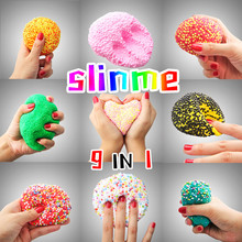 2017 New Arrival Funny 50g DIY Cotton Slime Clay 3D Fluffy Floam Slime Scented Stress Relief No Borax Education Craft Mud Toy