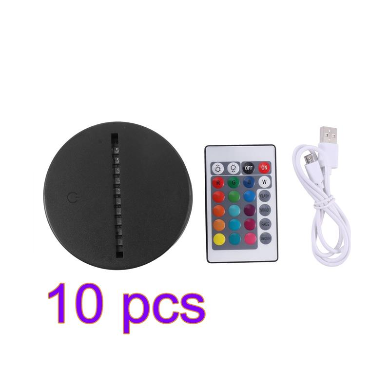 USB Cable Touch Lamp Bases For 3D LED Night Light Replacement 7 Color Light Bases Table