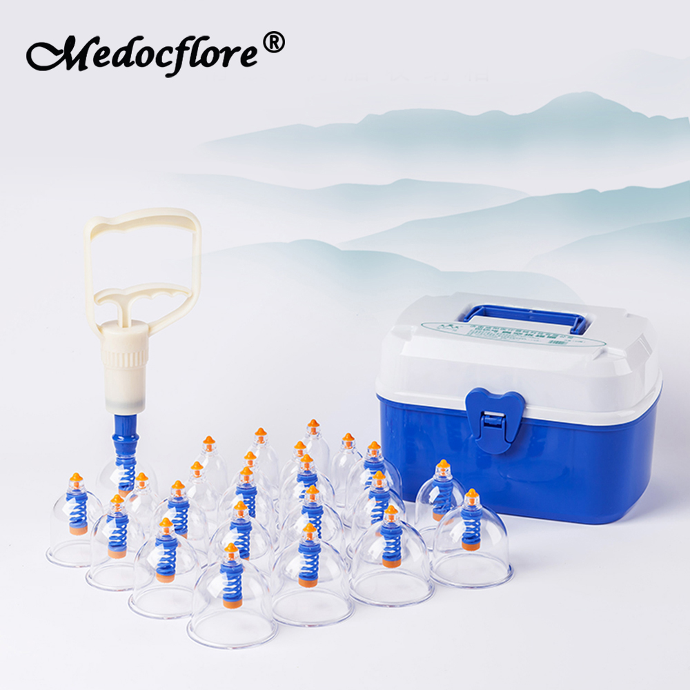 24 Cups set 2018 Vacuum Cupping Set Household Body Massage Jars Cupping therapy acupuncture Magnetic Cupping