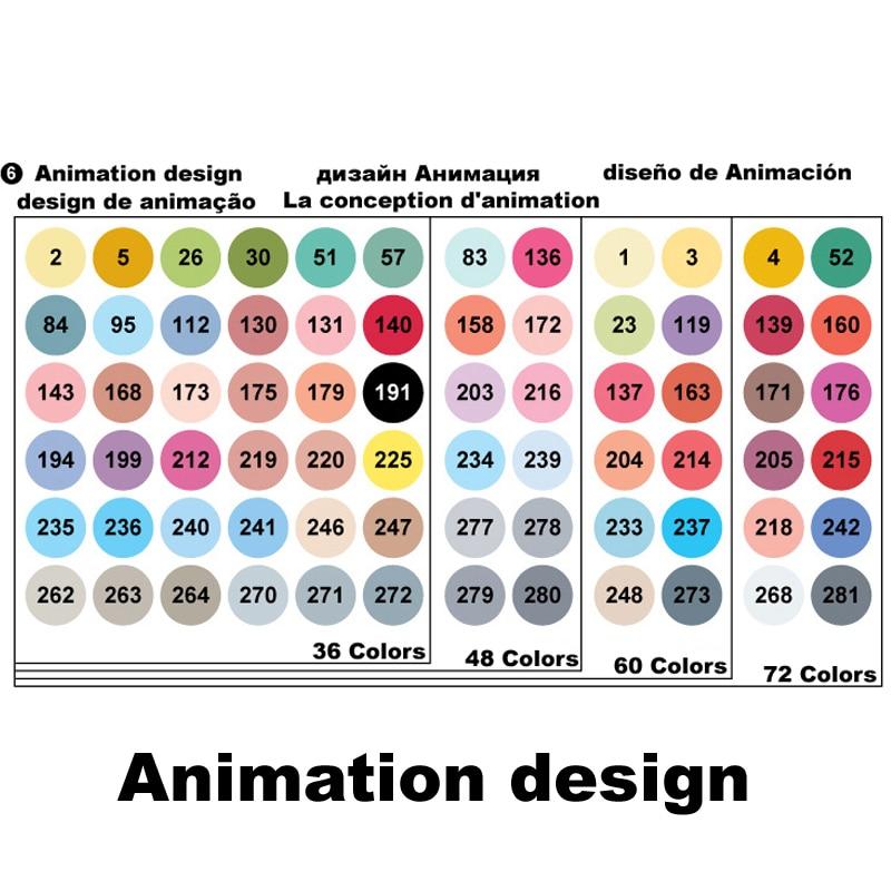 Marcadores da Arte 36 48 60 72 cores Quantidade de Cores : 36 48 60 72 Colors
