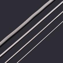 Модное женское и мужское ожерелье-цепочка змеиная кожа 316L ожерелье из нержавеющей стали для высокого качества серебряного цвета Ювелирная цепочка