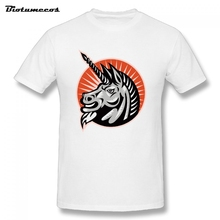 US Big Size Men's T Shirts unicorn printed Tshirt Man Clothes 100% Cotton Short Sleeve Men's Tee Shirts Tops Summer