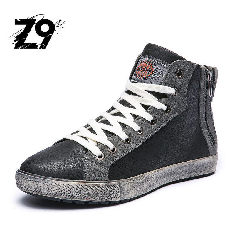 2016 Hot Casual shoes  High Top Canvas Men Shoes  Leather Men Scarpe Breathe Shoes Tenis Masculino Male Fashion Autumn Winter hot sale 2016 top quality brand shoes for men fashion casual shoes teenagers flat walking shoes high top canvas shoes zatapos