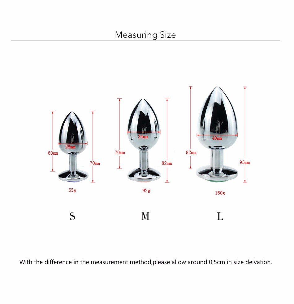 Au Reve One Piece Metal Anal Plug Sex Toys With Crystal Jewelry Booty Beads Sex Toys For Women Men Couple 9