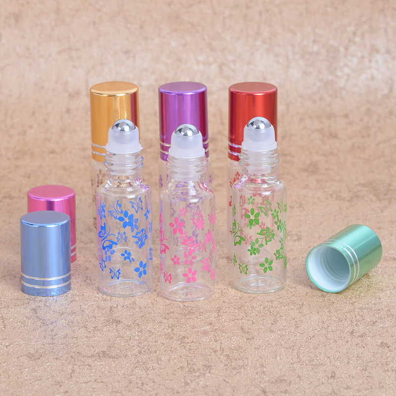 MUB - 1 pc 5ml Minyak Mini Refillable Botol Minyak Dengan Roll-on Portable Travel Kosong Perfume Case