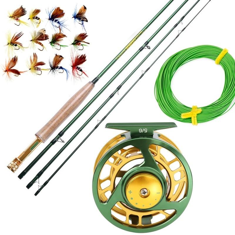 Sougayialng 8.86FT #5/6 canne à pêche à la mouche Set 2.7 M canne à mouche et moulinet à la mouche Combo avec ligne de leurre de pêche boîte ensemble matériel de canne à pêche - 3