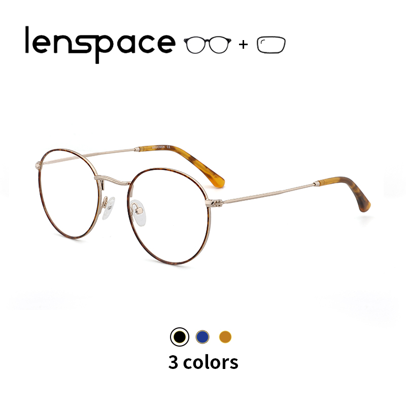 Metal Glasses Frame Women Round Glasses Vintage Prescription Eyeglasses Optical Myopia Glasses Retro Unisex Myopia Spectacle(China)