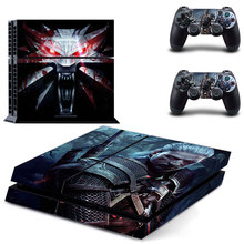 PS4 The Witcher 3: Wild Hunt Stickers Skins For Playstation 4 Console and Two Controller Skin