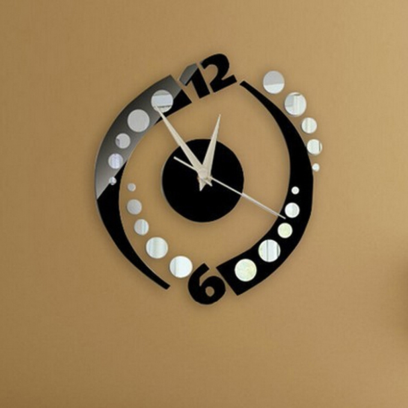 2016 new arrival silver and black squares wall clock for Silver wall clocks modern