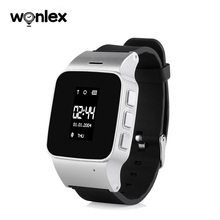 Wonlex EW100-Plus pantalla OLED de 1,22 pulgadas para Ancianos/niños adultos reloj de pulsera con control remoto antipérdida con ayuda SOS