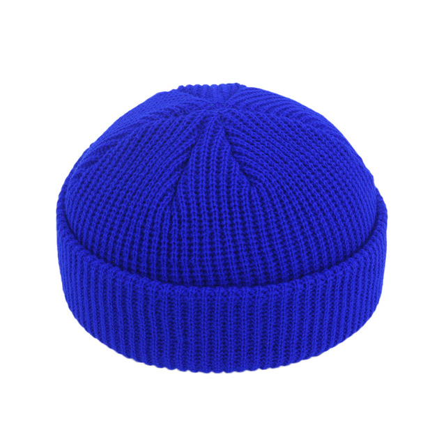 Hip Hop Beanie Skullcap Brimless Street Hip Hop Knitted Hat Women Men  Acrylic  Unisex  Casual  Solid Pumpkin Portable Melon Cap