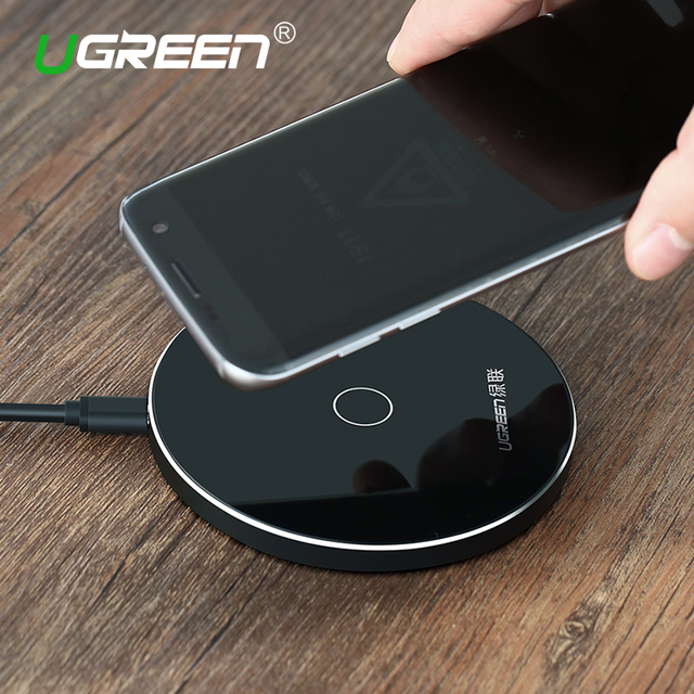 [Qi Wireless Charger 10W],Ugreen Original Wireless Charger Charging Pad for Samsung Galaxy S6 S7 Edge Google Nexus 4/5 Lumia 920