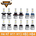 Auxbeam All-In-One COB Chips Led Car Headlight H4 H7 H11 H13 9005/HB3 9006/HB4 Plug Automobile Led Driving Lights 2pcs Fog Bulbs