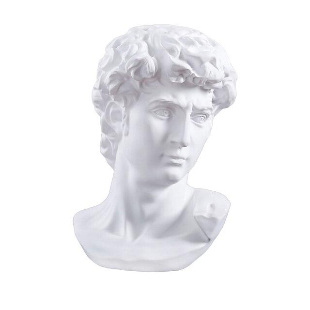 David Head Portraits Bust Mini Gypsum Statue Michelangelo Buonarroti Home Decoration for Resin Art&Craft Sketch Practice 1